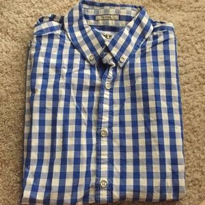 Men's Express Fitted Short Sleeve Button down